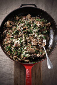 Mushroom & Quinoa Risotto With Brazil Nut Parmesan