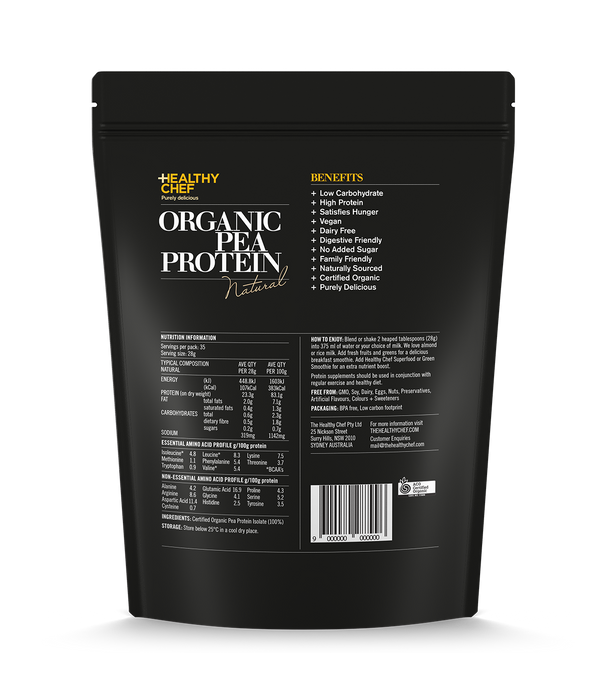 Organic Pea Protein Natural Protein The Healthy Chef
