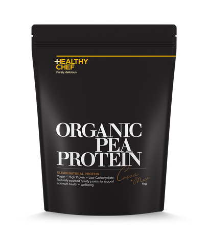 Organic Pea Protein Cocoa + Maca Protein The Healthy Chef