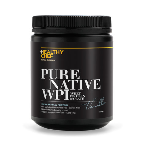 Pure Native WPI Vanilla Protein The Healthy Chef