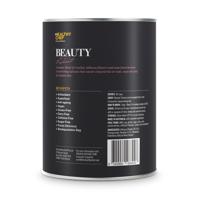 Beauty Tea loose leaf blends The Healthy Chef