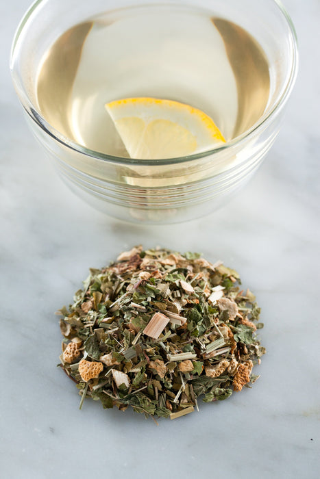 Lemon + Ginger Tea loose leaf blends The Healthy Chef