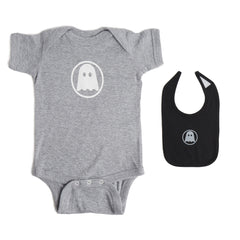 Ghostly Onesie + Bib Bundle
