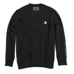 Black Embroidered Crewneck