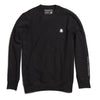 Black Embroidered Heavyweight Crewneck