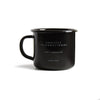 Ghostly Enamelware Mug - Black