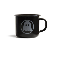 Ghostly Enamelware Mug - Black - International