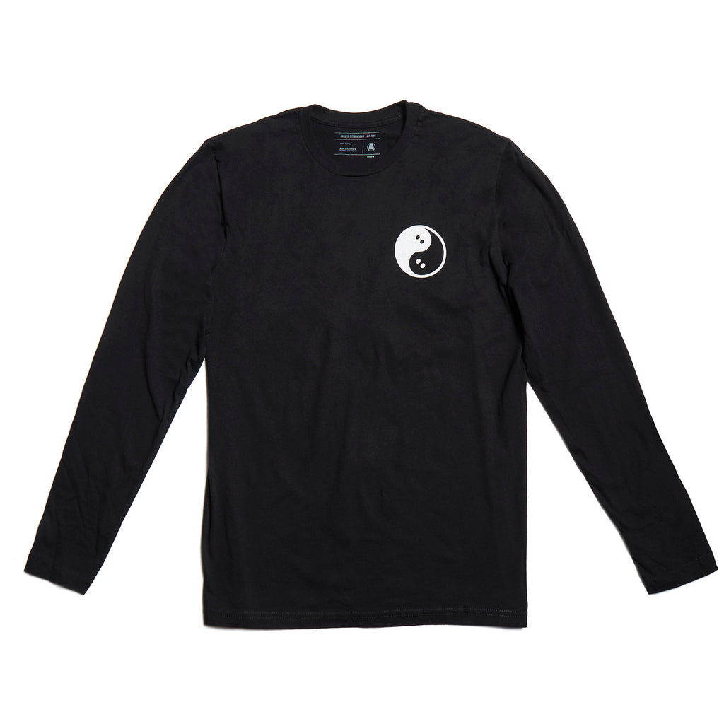 Ghostly Yin Yang Long-Sleeve - Black
