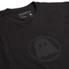 Ghostly Logo Tee - Black on Black - International