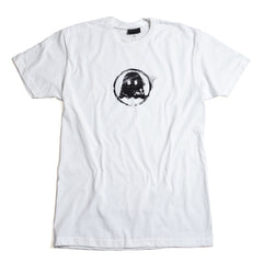 Distressed Logo Tee - White