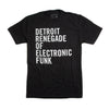 Detroit Renegade of Electronic Funk Tee - Black