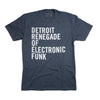 Detroit Renegade of Electronic Funk Tee - Indigo