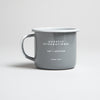 Ghostly Enamelware Mug - Grey - International