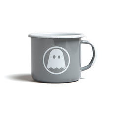 Ghostly Enamelware Mug - Grey