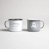 Ghostly Enamelware Mug - White - International