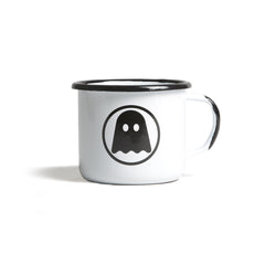 Ghostly Enamelware Mug - White