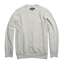 Grey Embroidered Heavyweight Crewneck