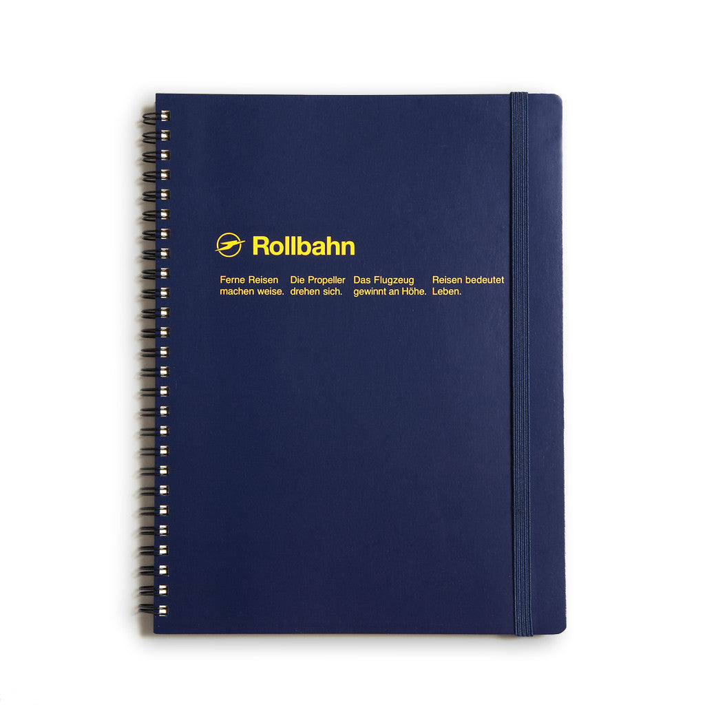 Rollbahn Large Notebook Navy Blue Goods The Ghostly