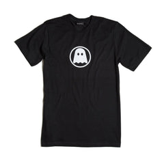 Ghostly Logo Tee - White on Black
