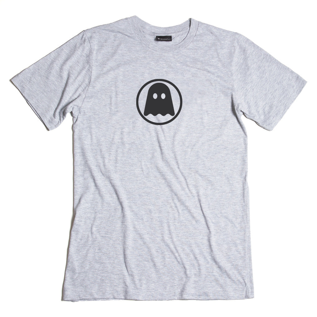 Ghostly Logo Tee - Grey - International