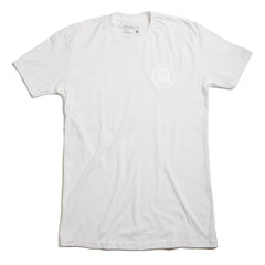 Ghostly Logo Tee - White on White - International