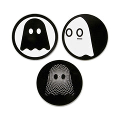 "Ghostly Logo 3"" Sticker Set"