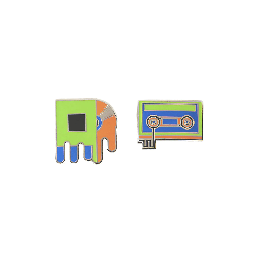 Vinyl and Cassette Pin Set