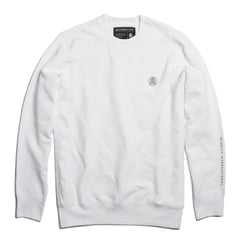 White Embroidered Crewneck