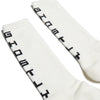 Ghostly Text Socks - White