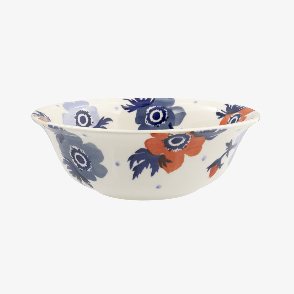 Red & Blue Anemone Cereal Bowl