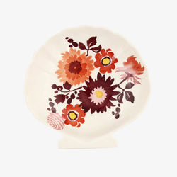 Bright Dahlias Medium Shell Dish