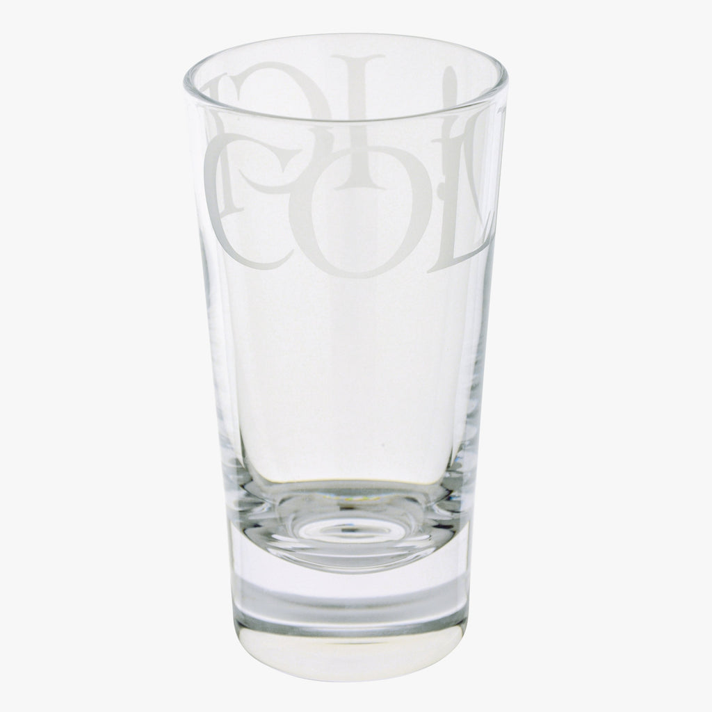 Black Toast Tall Glass Tumbler