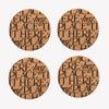 Black Toast Set of 4 Cork Coasters