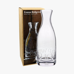 Black Toast Glass Carafe Boxed