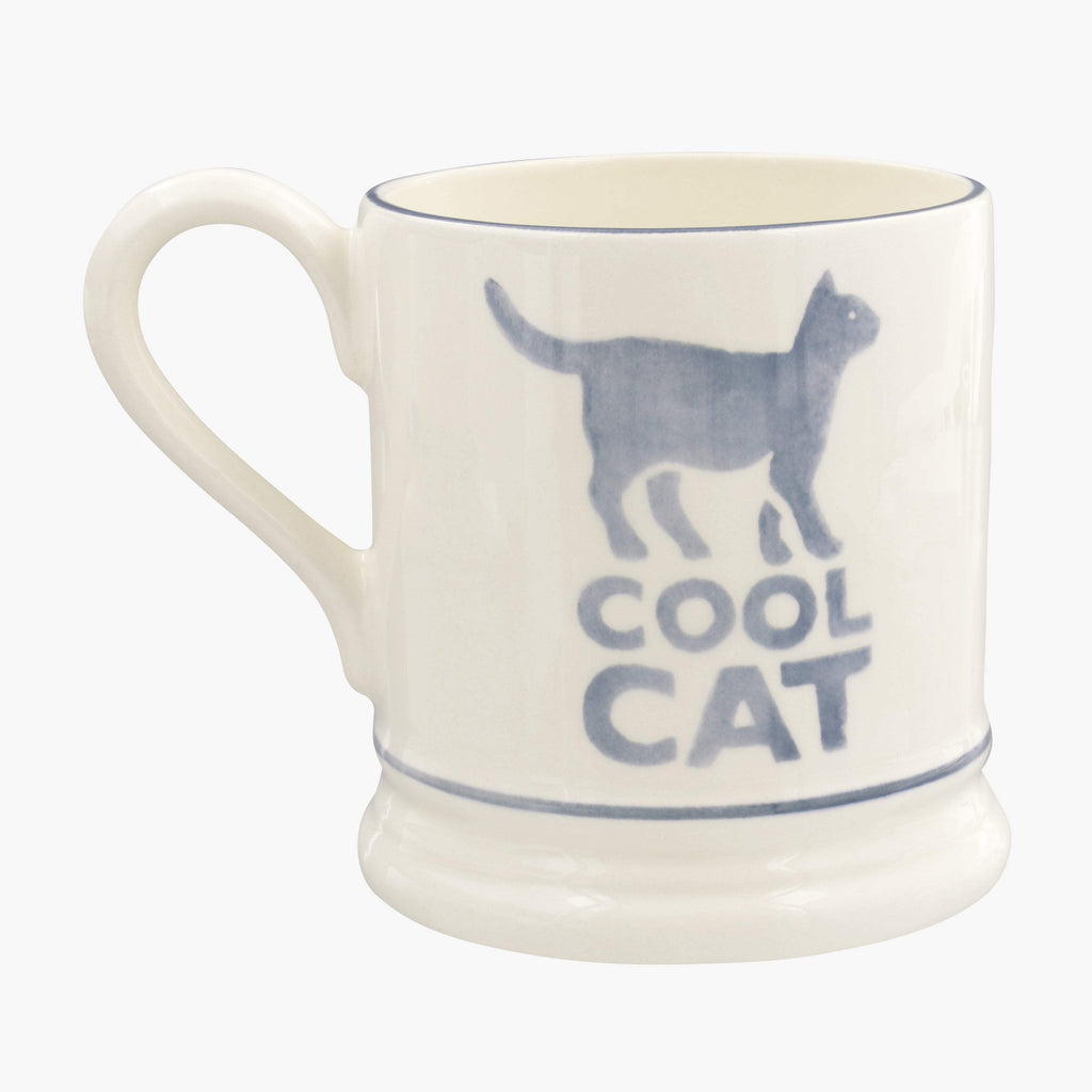 Seconds Bright Mugs Cool Cat 1/2 Pint Mug