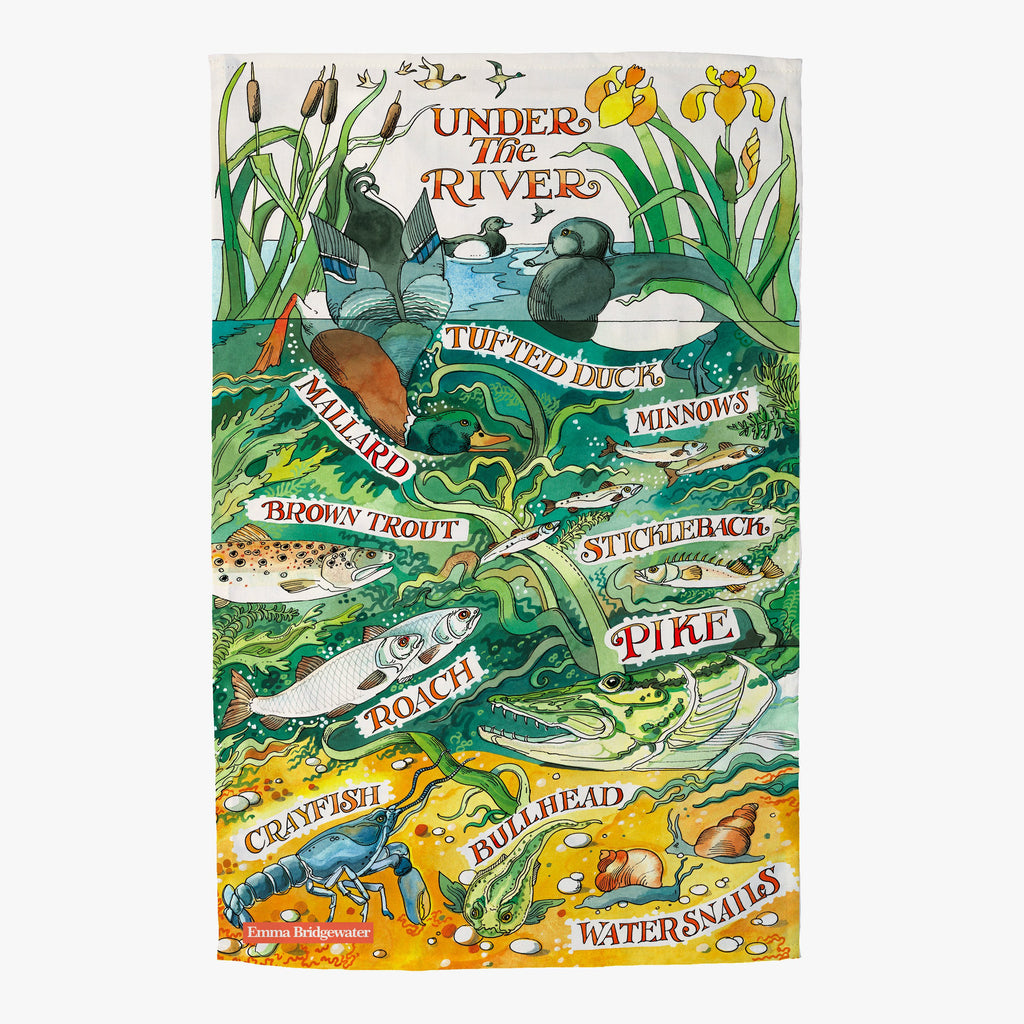 River & Shore Under The River Tea Towel