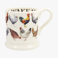 Hen & Toast Row 1/2 Pint Mug