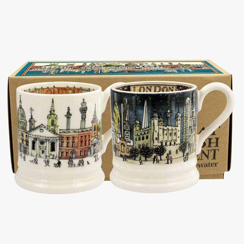 Cities Of Dreams London Set Of 2 1/2 Pint Mugs Boxed