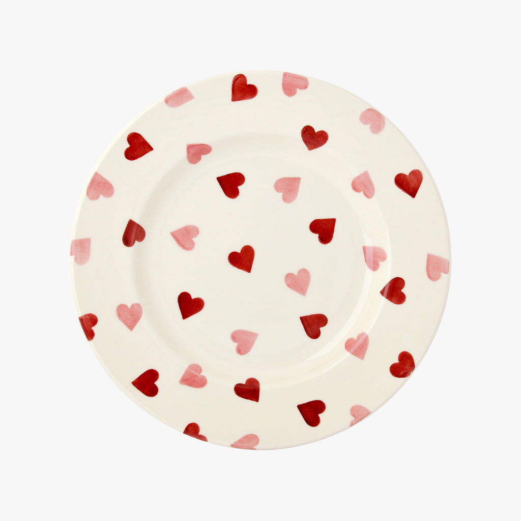 "Seconds Pink Hearts 8 1/2"" Plate"