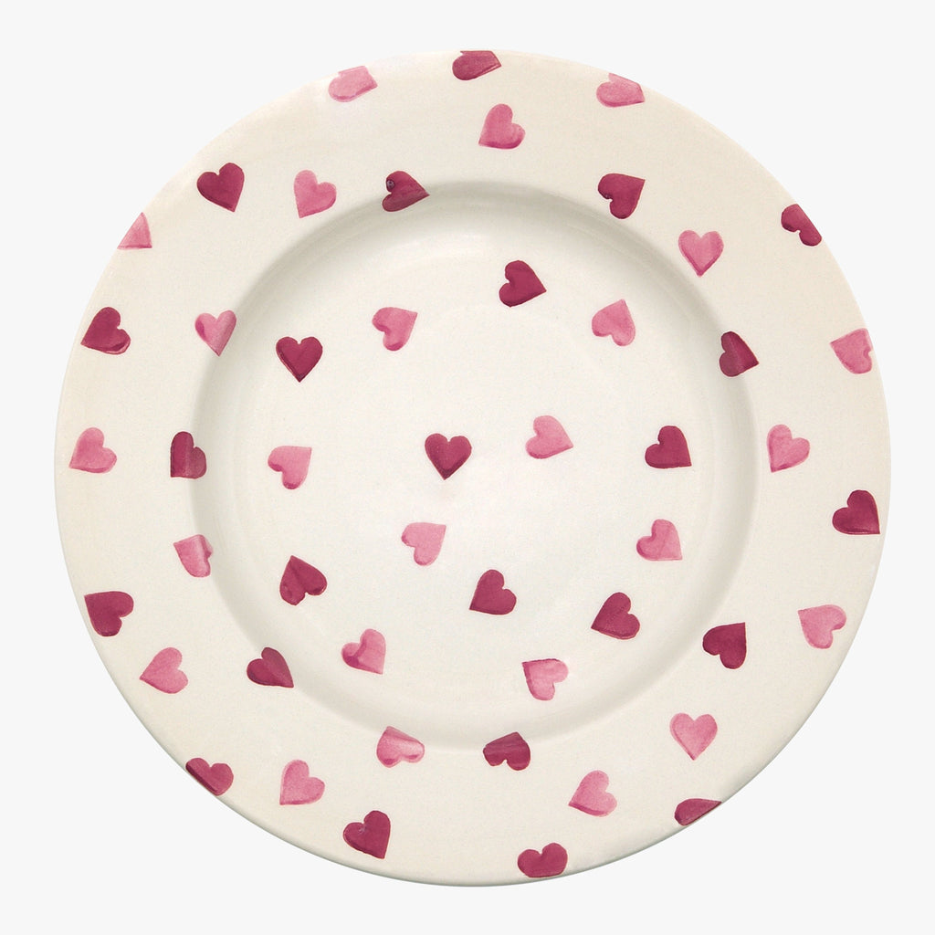 "Seconds Pink Hearts 10 1/2"" Plate"