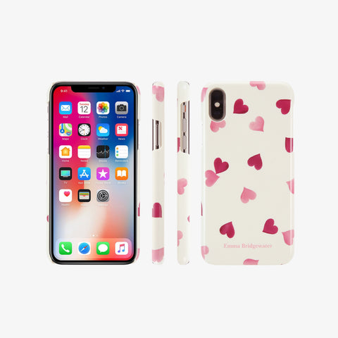 Pink Hearts Phone Case for iPhone X / XS