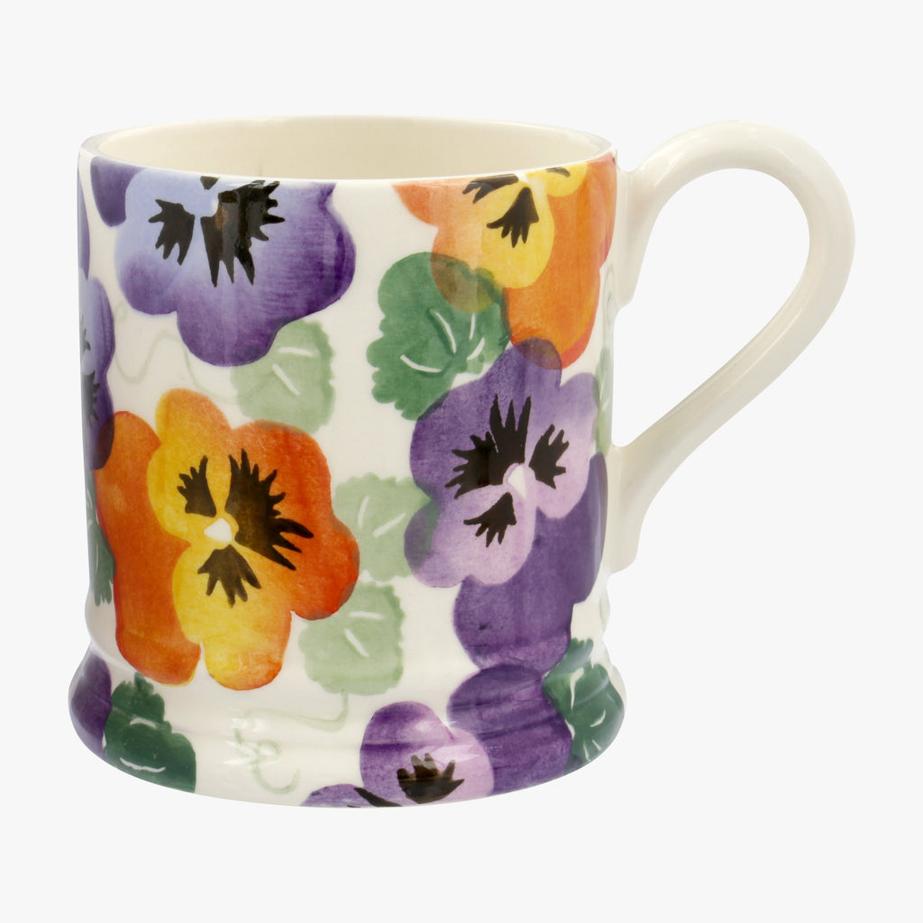 Seconds Purple Pansy 1/2 Pint Mug