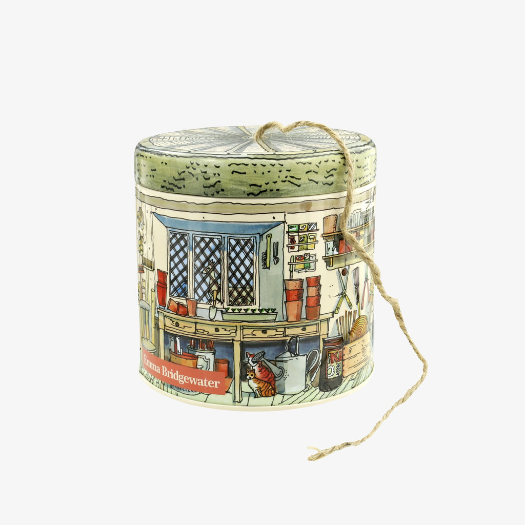 Setting Up Home Potting Shed String Tin