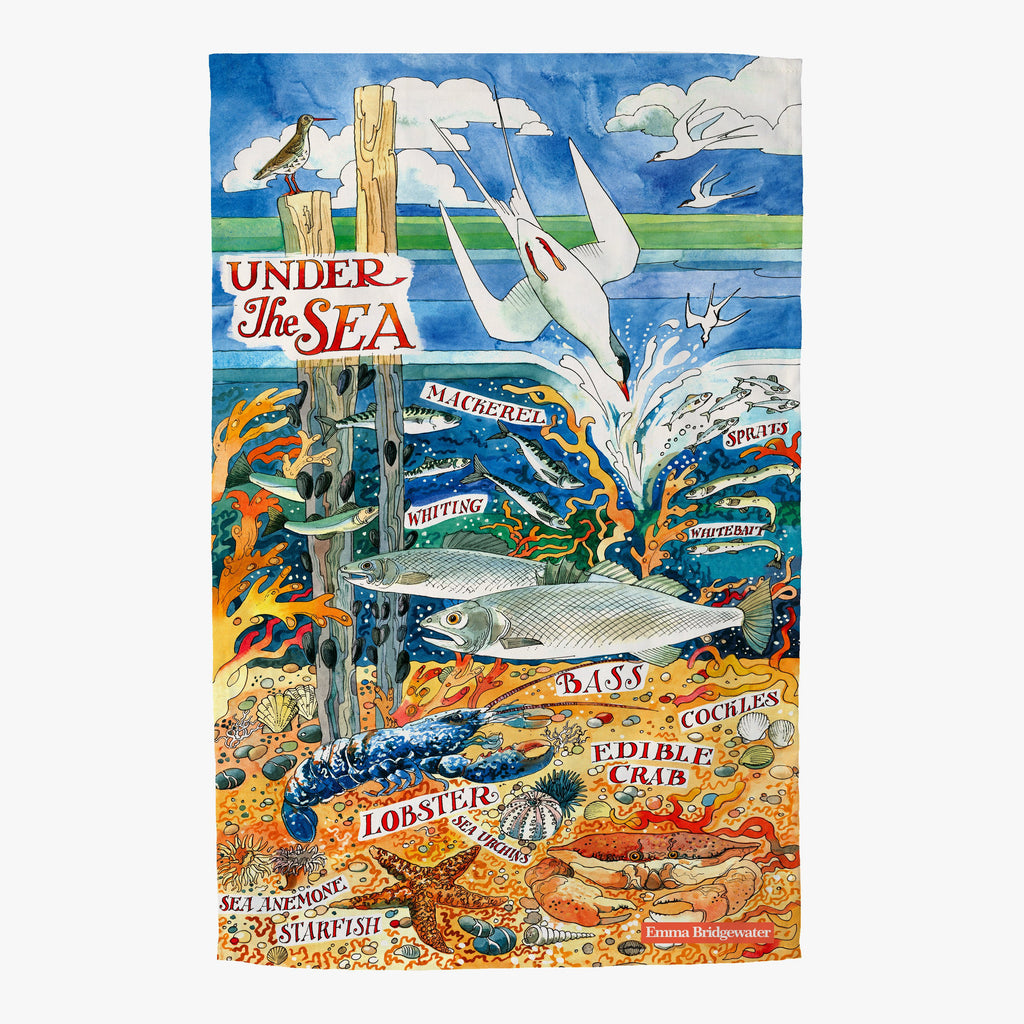 River & Shore Under The Sea Tea Towel