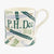 Personalised Blue Pencils 1/2 Pint Mug