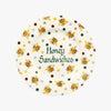 Personalised Bumblebee & Small Polka Dot 8 1/2 Inch Plate