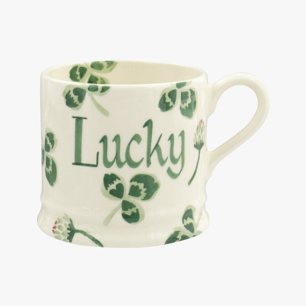 Personalised Clover Flower Small Mug