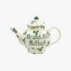 Personalised Clover Flower 2 Mug Teapot