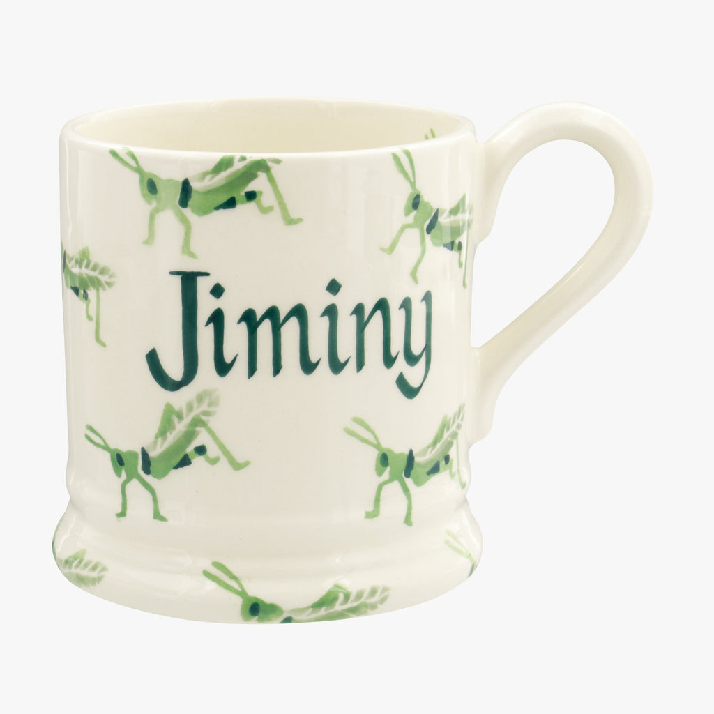 Personalised Grasshopper 1/2 Pint Mug