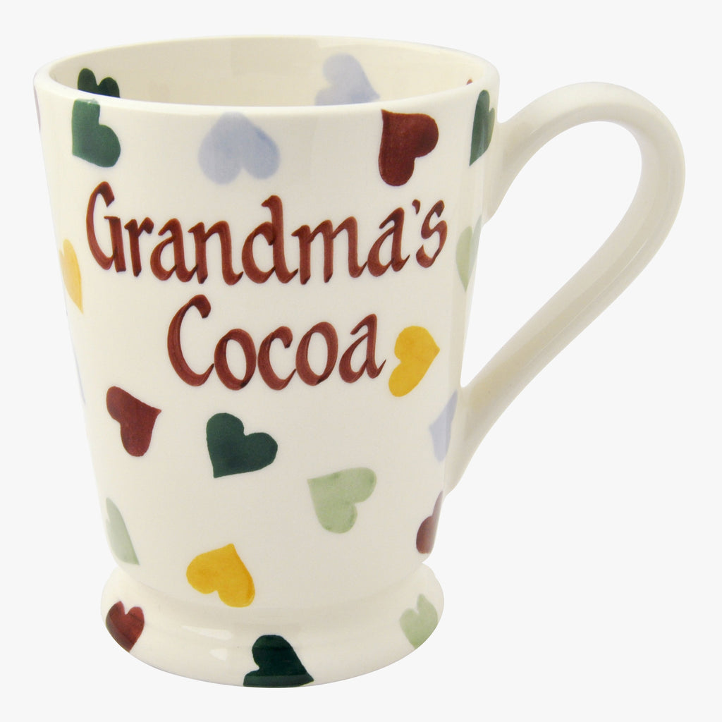 Personalised Polka Hearts Cocoa Mug